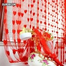 Rideau en forme de cœur aimanté pour fenêtre   Foulard à fleurs en forme de cœur, écharpe pure relevable de balcon, pour décoration de pièce, livraison gratuite