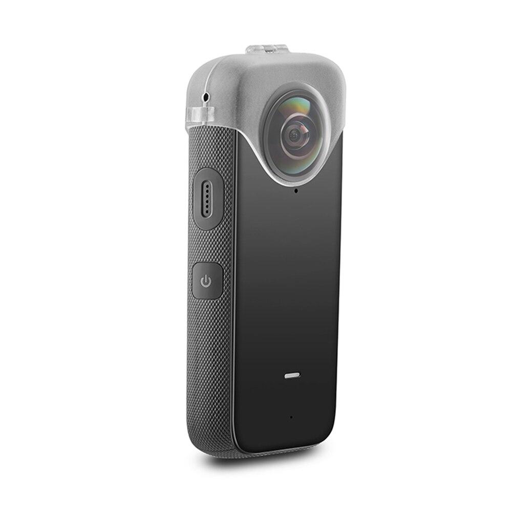 Escudo para Insta360 Lente Transparente Capa Protetora Anti-queda Proteção Case Uma Câmera x2