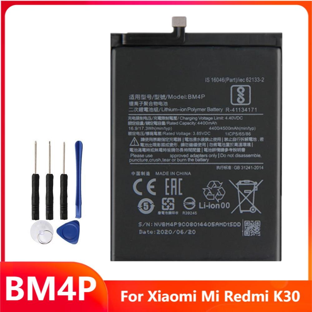 Сменный аккумулятор для телефона BM4P для Xiaomi Mi Redmi K30 Hongmi K30, аккумуляторные батареи 4500 мАч с бесплатными инструментами
