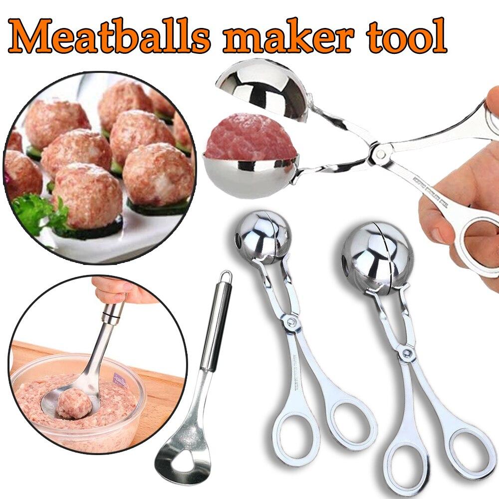 Machine à boulettes de viande de cuisine en acier inoxydable pince à boulettes de viande farcie bricolage