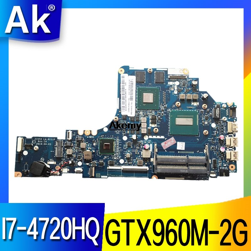 Get HD LA-B111P Laptop motherboard For Lenovo Y50-70 mainboard original I7-4720HQ/4710HQ GTX960M-2G