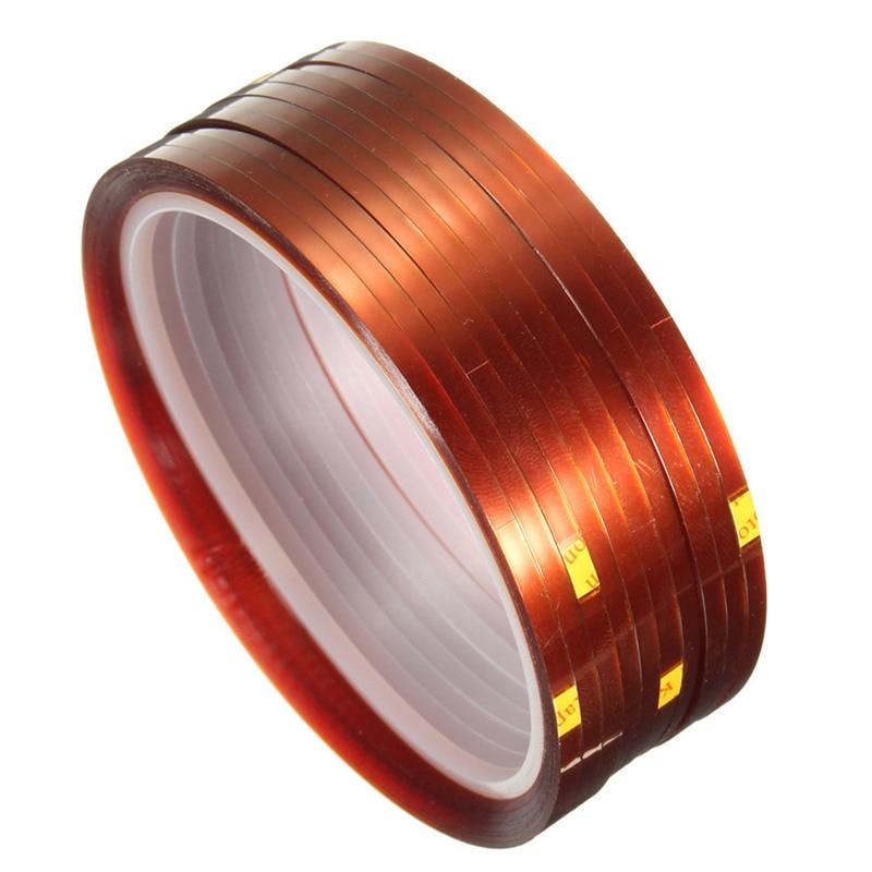 Bande adhésive de Sublimation   10 rouleaux de couleur marron, 33m x 3mm résistante à la chaleur et à la température