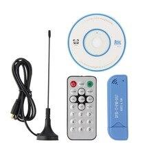 USB 2,0 цифровой DVB-T SDR + DAB + FM HD ТВ тюнер приемник палка RTL2832U + R820T2