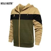 new men military zip up hoodies fleece hooded sweatshirt mens hip hop patchwork hoodie streetwear hoody pullover tops clothes