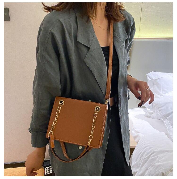 Женская сумка, модная повседневная сумка на цепочке, женская сумка-мессенджер через плечо из искусственной кожи, женский косметический Орг...