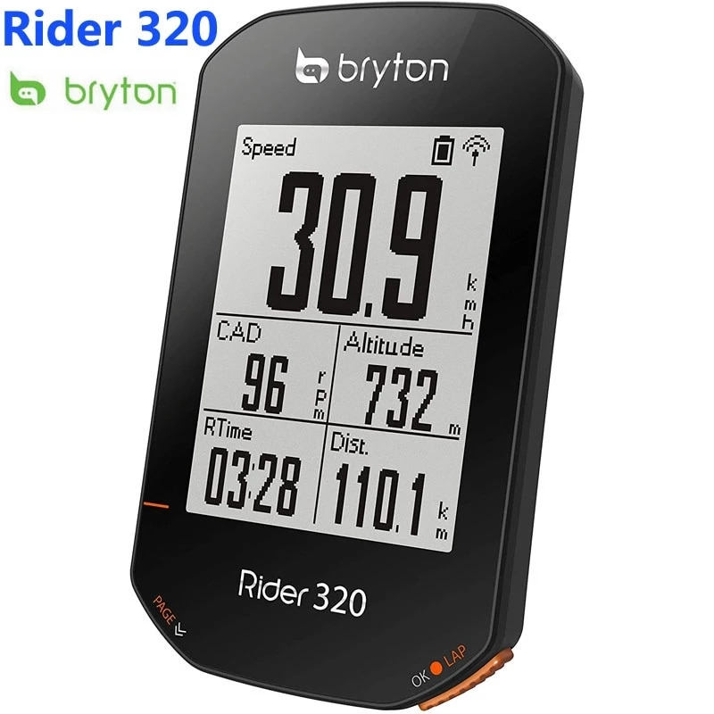 [해외] Bryton 라이더 320 GPS 사이클링 자전거 컴퓨터 라이더 310 새로운 모델 자전거 컴퓨터 마운트 방수 무선 다른 410 420 530