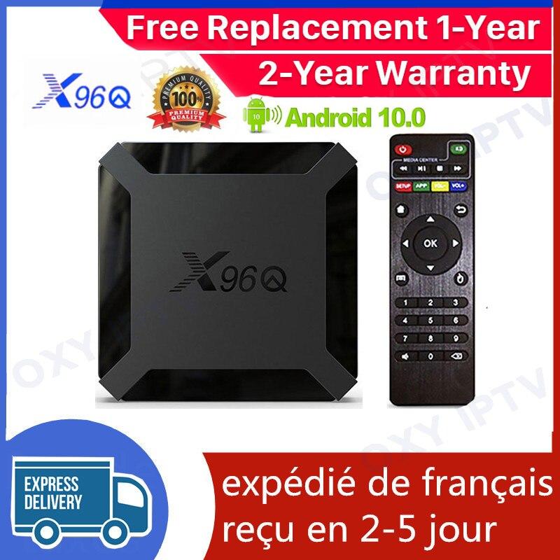 X96Q علبة تلفزيون بروتوكول الإنترنت الذكية أندرويد 10.0 صندوق التلفزيون Allwinner H313 1G 8G 2G 16G مشغل الوسائط X96Q الذكية ip tv فك التشفير السفينة من فرنسا