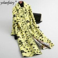 Frauen Real Pelzmantel Koreanische Herbst Winter Wolle Pelz Jacke Scheren Winter Kleidung Mäntel und Jacken Frauen 2020 WPHPC14 KJ3771