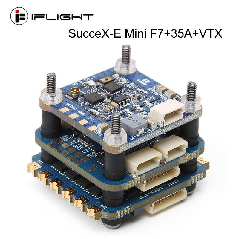 IFlight SucceX-E Mini F7 35A 4-in-1 ESC 2-6S Flight Stack (MPU6000)with SucceX mini Force 5.8GHZ 300mW VTX for FPV Racing Drone iflight succex e mini f7 35a 4 in 1 esc 2 6s flight stack mpu6000 with succex mini force 5 8ghz 300mw vtx for fpv racing drone