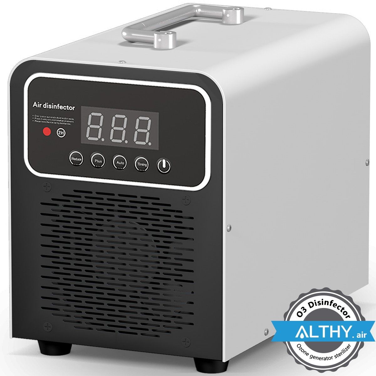 ALTHY Ozone Generator Air Purifier Cleaner Disinfector O3 Ozonator Deodorizer -  5,000mg/hr Timer - Portable car home mini car ozone air purifier home ozone generator car air cleaner odor remover o3 generator eliminator deodorization sterilizer