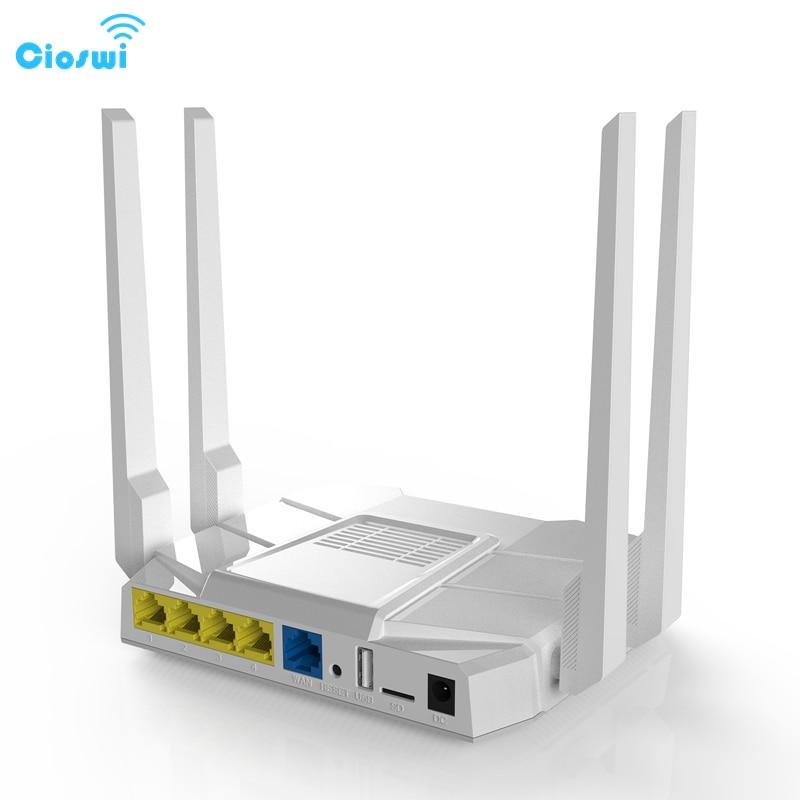 Cioswi High Speed Dual Band Wireless Wifi Router WE1326-BKC 3G 4G LTE Modem SIM Card Slot Travel Business High Gain Antennas недорого