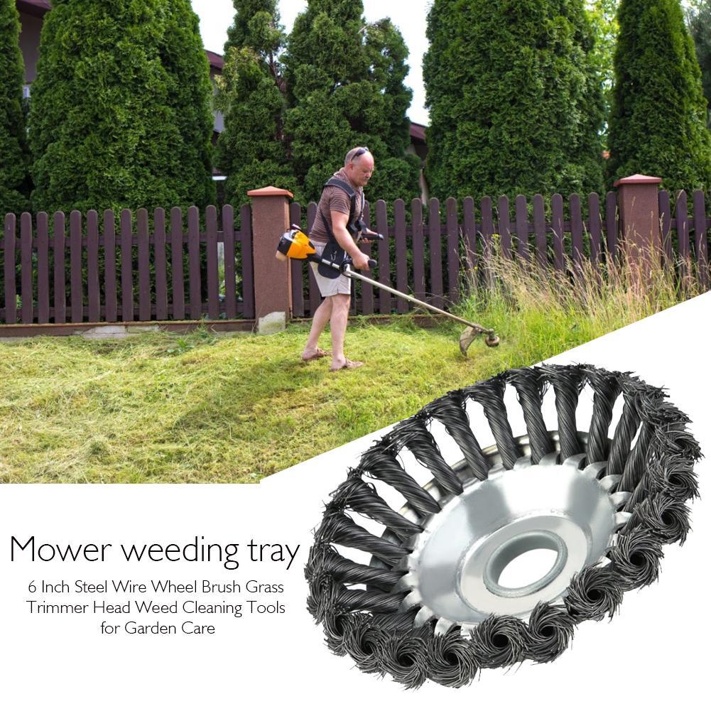 Cepillo de rueda de alambre de acero de 6 pulgadas, cabezal de...