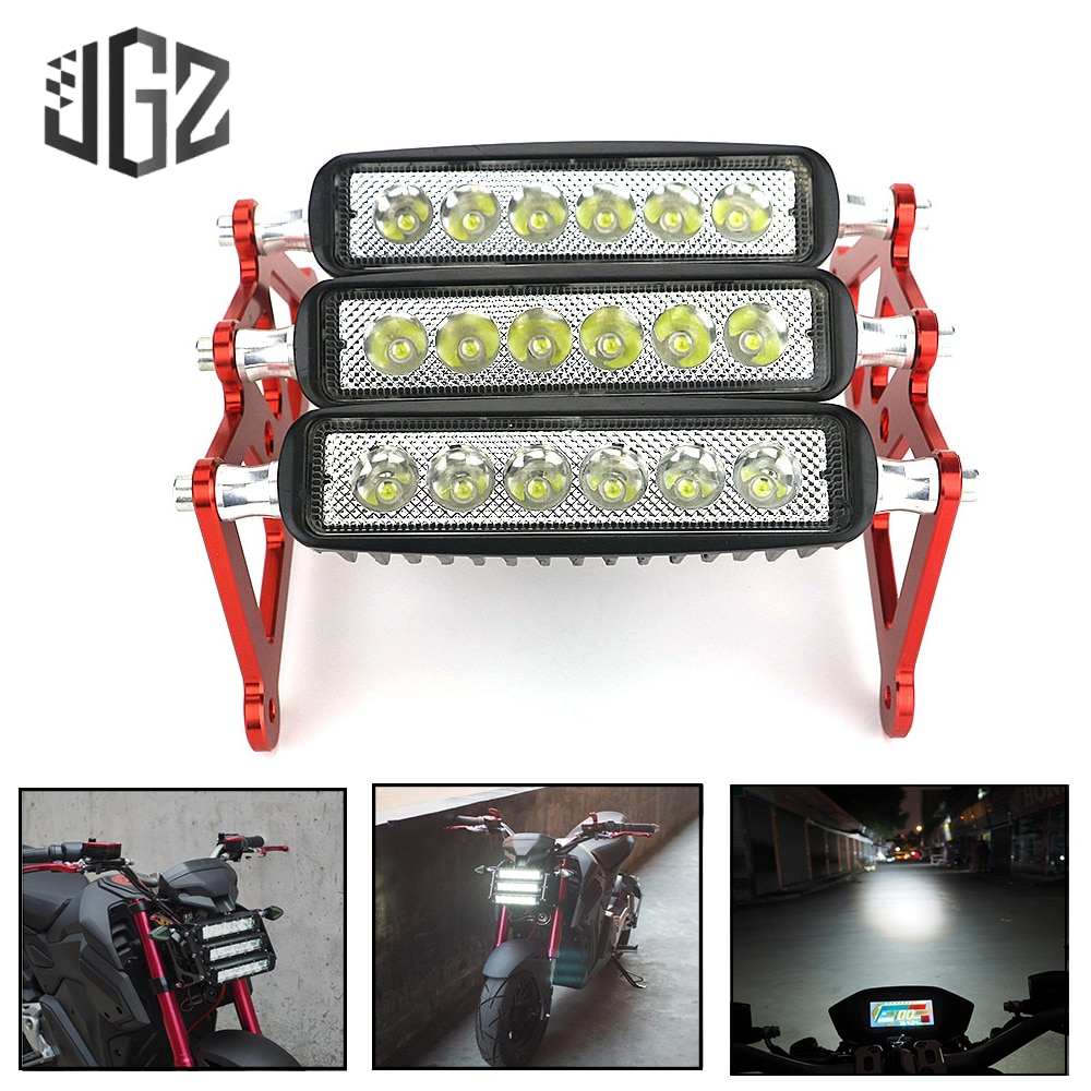 Faro LED para motocicleta Honda Grom MSX125 2013 2014 2015 2016 2017 2018 2019 impermeable luz delantera roja