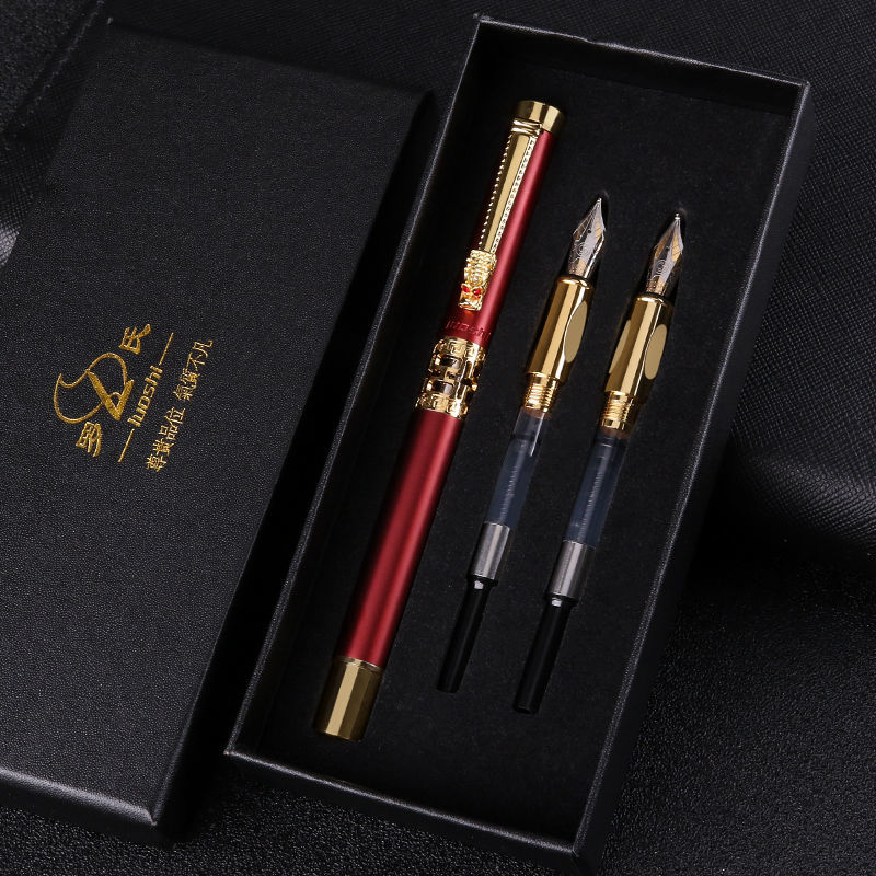 Free shipping Value Pen Set Student Gift Gift Pen Art Curved Tip Hard Pen Adult Gift Box school supplies  fountian pen