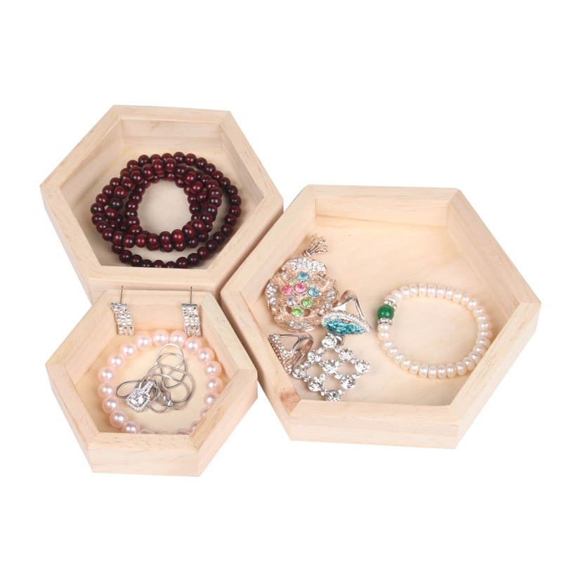 Joyero Organizador Fashion Wooden Jewelry Box Necklace Ring Clip Display Stand Mujer Storage Dust-Proof