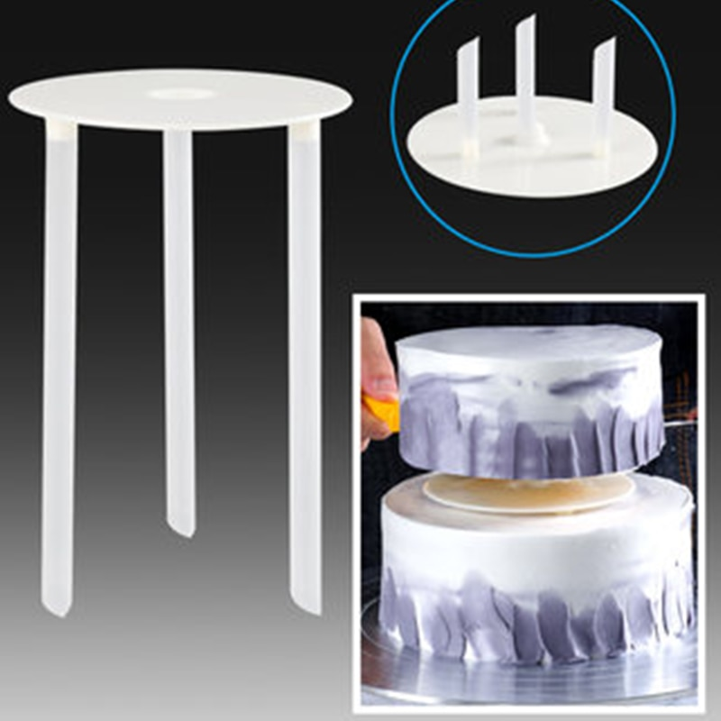 Многослойная опора для торта yomdid, практичная опора для торта, круглая подставка для десерта, подставка для укладки, кухонный инструмент для торта DIY