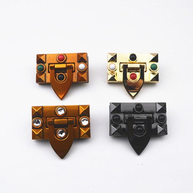 Прямоугольный металлический замок для сумок и кошельков