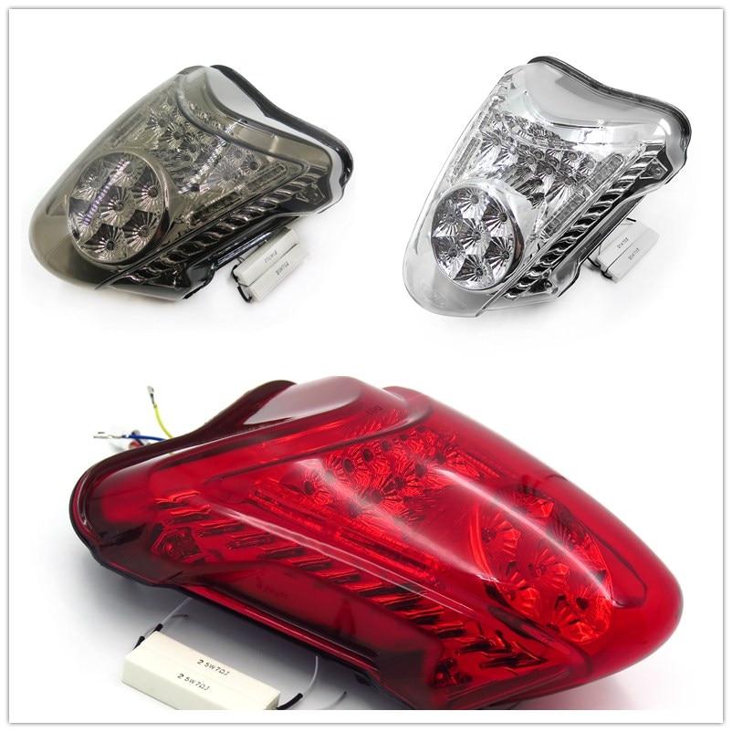 Aftermarket free shipping Motorcycle Parts LED Tail Brake Light Turn Signals for 2008-2012 Hayabusa GSX1300R Smoke 2010 2011