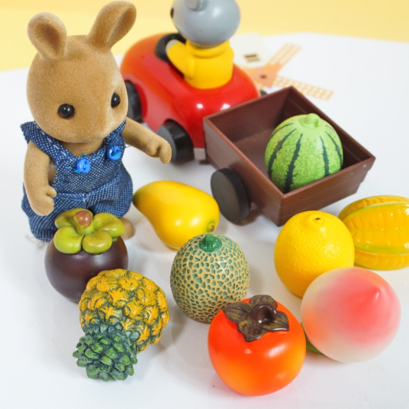 10PC Doll House Miniature Accessories Simulation Kitchen Toys 1:12 Forest Family Animal  Fruit  Decoration Kit Pretend Play Toy