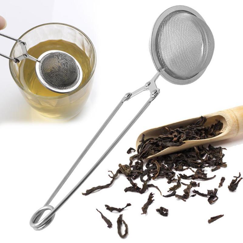 Sphere Infusor Malha Coador de Chá Filtro do Chá do Aço inoxidável Metal Difusor de Filtro do Saco de Chá Da Folha Solta Coador De Chá Verde para a Caneca bule