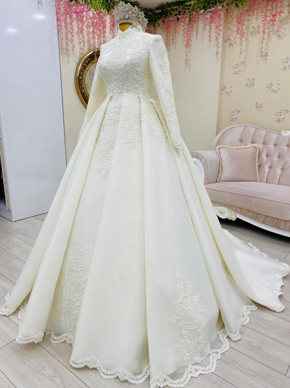 يزين مسلم فساتين الزفاف للعروس 2021 طويل الأكمام عالية الرقبة المغربي القفطان الزفاف أثواب الزفاف vestidos دي novia