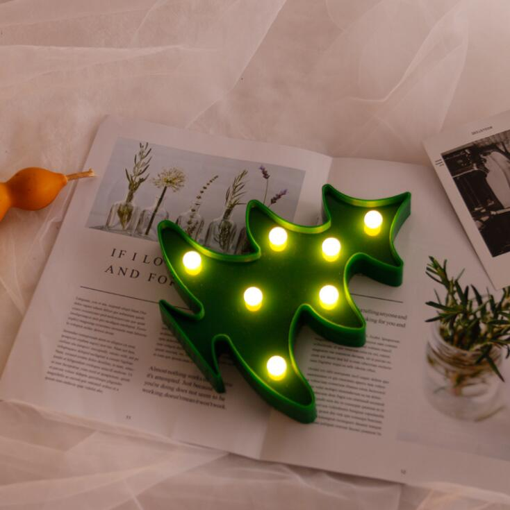 LED ضوء الليل شجرة عيد الميلاد النمذجة والديكور النمذجة مصباح زر خلية