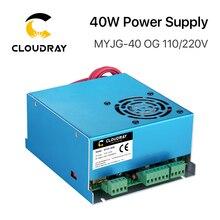 Fuente de alimentación láser Cloudray 40W CO2 MYJG 40WT 110 V/220 V para máquina cortadora de grabado de tubos láser modelo A