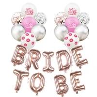 bride to be aluminum foil balloon set red lip latex balloon combination wedding party venue layout balloon set