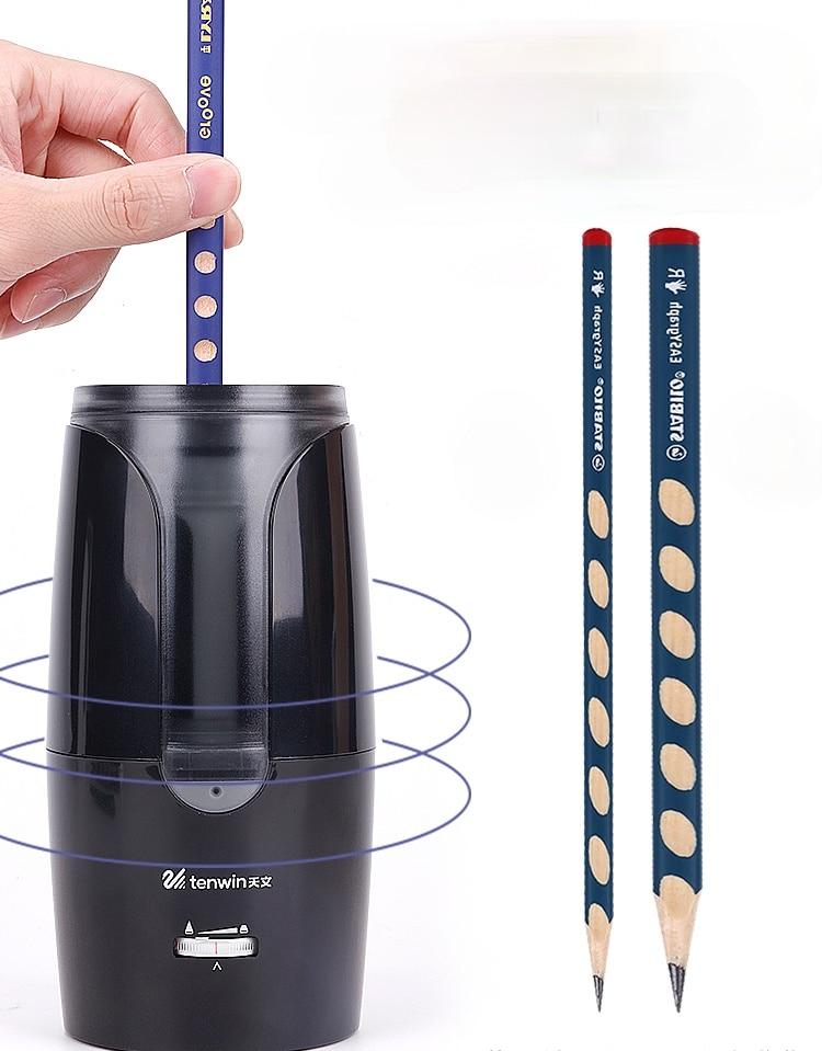 Tianwen Electric Pencil Sharpener Automatic Pencil Sharpener Pupils' Large Diameter Triangular Pencil Hole Pencil Sharpener
