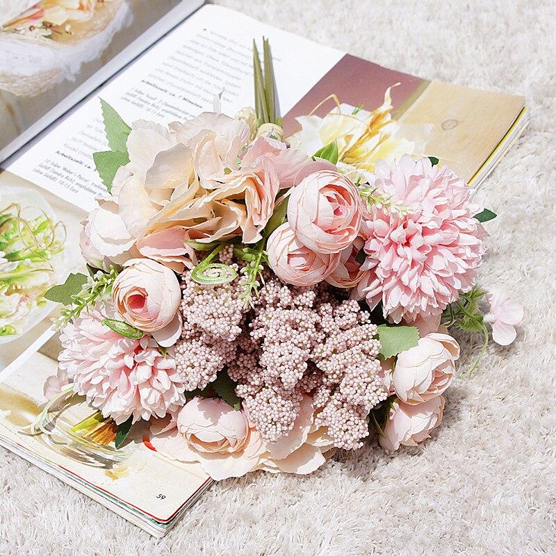 1 комплект Свадебный комбинированный букет невесты, держащих букет невесты, искусственные цветы, товары для дома, Декор для дома, скрапбук