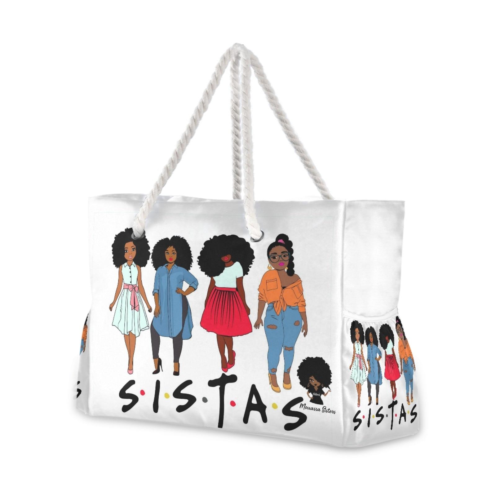 موضة جديدة للطي المرأة كبيرة الحجم حقيبة يد حمل السيدات عادية الأفريقية بنات أسود المرأة طباعة حقيبة كتف شاطئ بولسا الأنثوية