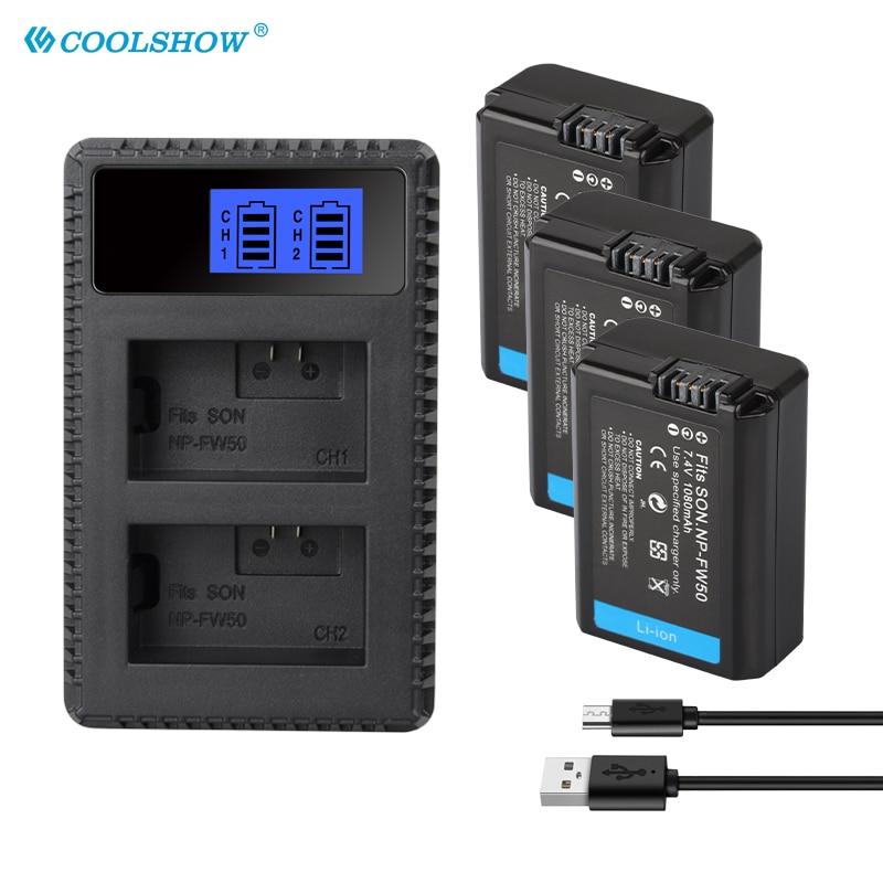 NP-FW50 NP FW50 1080mAh cargador de batería para cámara para Sony Alpha...