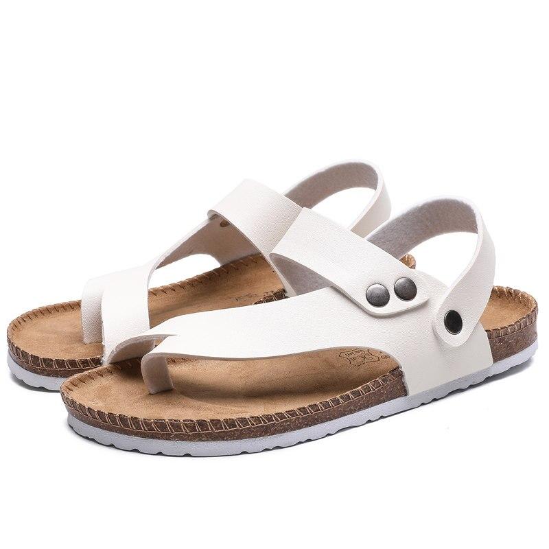 في الهواء الطلق رجل الصنادل 2021 الصيف صنادل شاطئ الصنادل الجلدية الرجال أحذية مصممين الرجال الأحذية المفتوحة تنفس موضة حجم 35-44