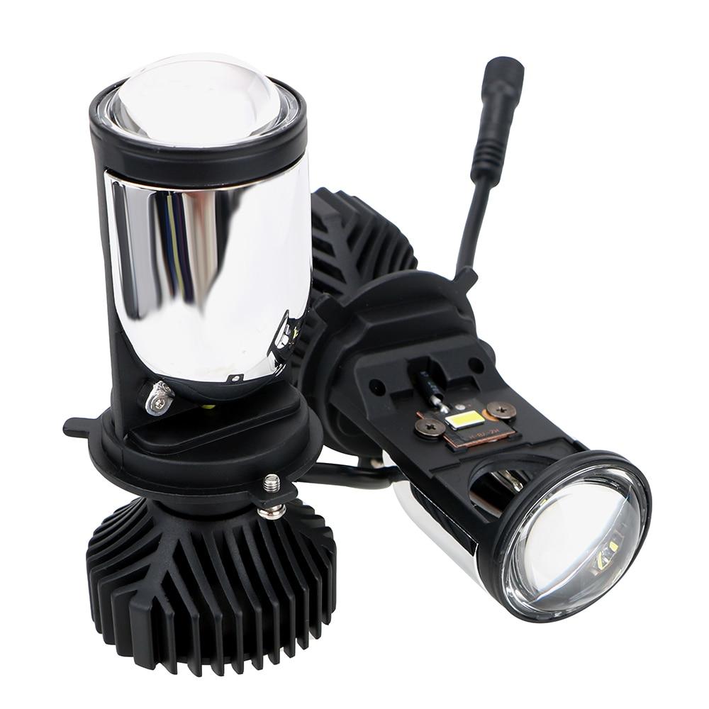 90W/Pair Hi/Lo Beam Headlight Canbus H4 LED Car Light Bulb Automobiles Lamp Conversion Kit H4 LED Mini Projector Lens Headlamp