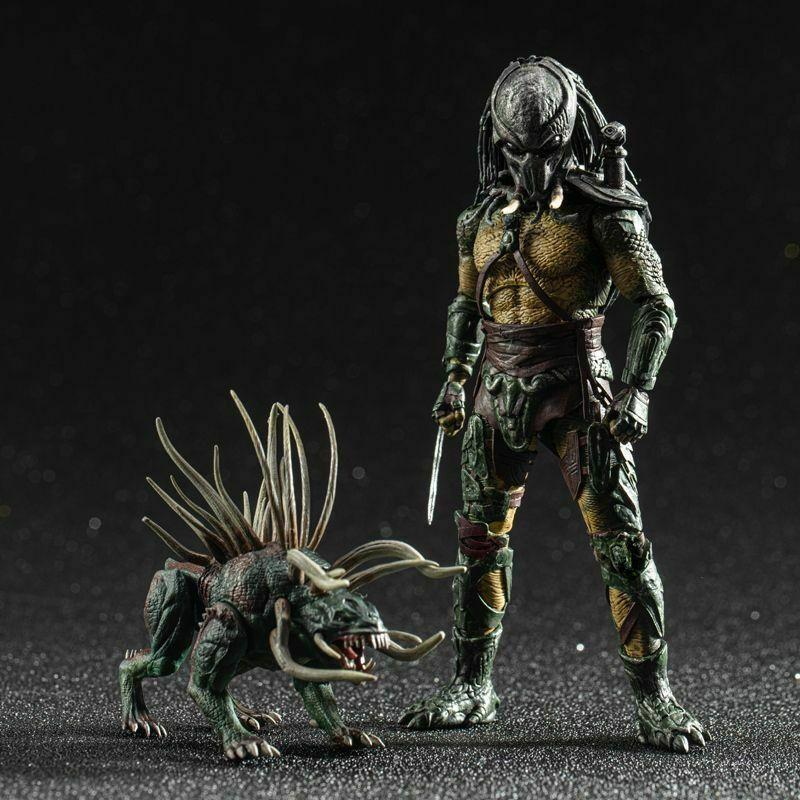 En Stock, juguetes Hiya 1/18, rastreador de depredadores, figura de 4 , depredadores LP0053, modelo coleccionable para colección