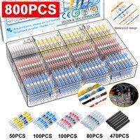 800 шт., термоусадочные клеммы для проводов