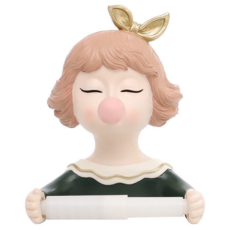 Cartoon Cute Bubble Girl Creative Home Bathroom Decoration Towel Holder Roll Paper Tissue box enlarge