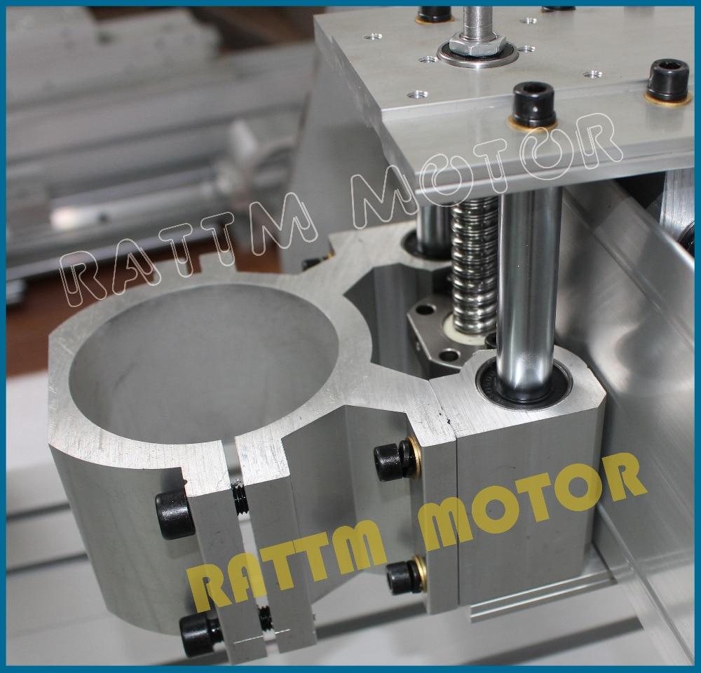 AUS EU free ship 6040 CNC Router Engraver Engraving Milling Machine farme Mechanical Kit Ball Screw 80mm Aluminum Clamp for DIY enlarge