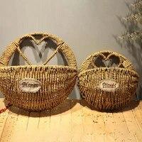 heart hand braided plant flower hanging basket storage organizer garden decor
