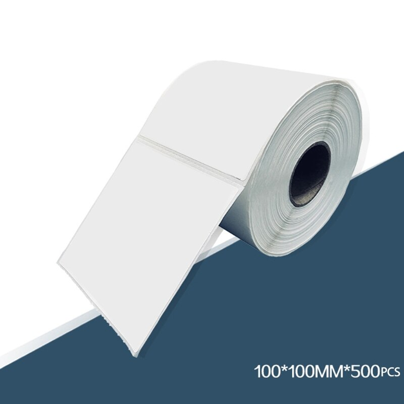 2021 novo papel termico de impressao clara 500 folhas rolo barra lables pos maquina