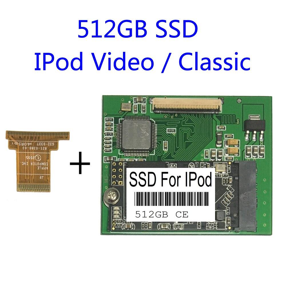 جديد 512GB SSD CE Zif لآي بود كلاسيك آي بود فيديو HDD استبدال mk1634غال MK6008GAH MK8010GAH mk3008غال IPOD سعة التوسع HD