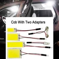 1pcs white t10 w5w auto interior reading lamp bulb light dome festoon vehicle cob 18smd 24smd 36smd 48smd car led panel