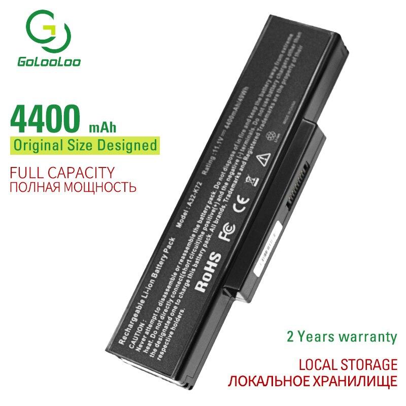 Golo 6 CELL 4400 mAh A32-K72 batería del ordenador portátil para ASUS K72Y K73 K73B K73BR K73BY K73E K73J K73JK K73S K73SD K73SJ K73SM K73SV K73T