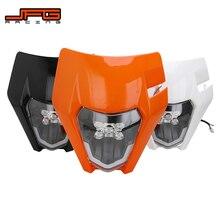 รถจักรยานยนต์ใหม่ไฟหน้าแบบ LED ไฟหน้าไฟหน้าสำหรับ KTM EXC EXCF SX SXF XC XCF XCW XCFW 125 150 250 300 350 450 530