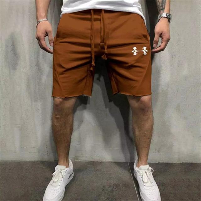 Мужские однотонные шорты 2021, мужские бриджи для фитнеса, бодибилдинга, бега, мужские брендовые прочные спортивные брюки, шорты для фитнеса и...
