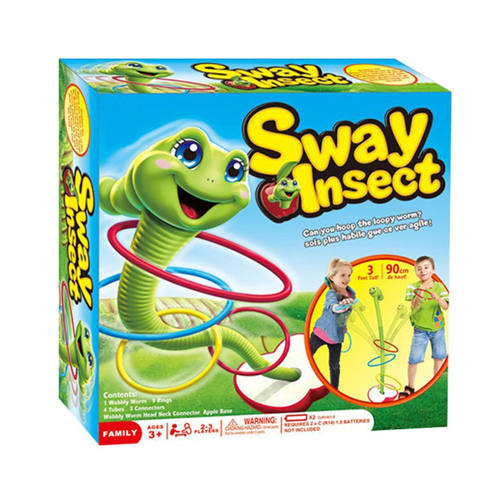Crianças brinquedos educativos balanço elétrico bug jogando anel corrida jogo ao ar livre capacidade auditiva desenvolver uma personalidade confiante