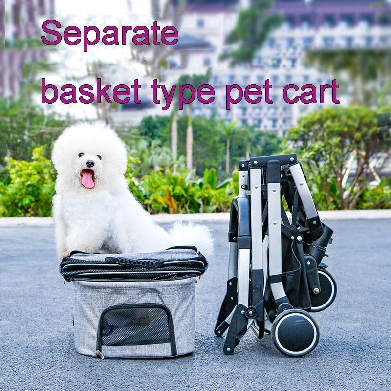 Tipo separado carro para mascota perros y gatos y perros transporte asiento de coche del perro cabina separacin plegable