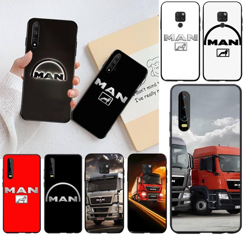 KPUSAGRT, funda negra de silicona para teléfonos Huawei P40 P30 P20 lite Pro Mate 30 20 Pro P Smart 2019 prime