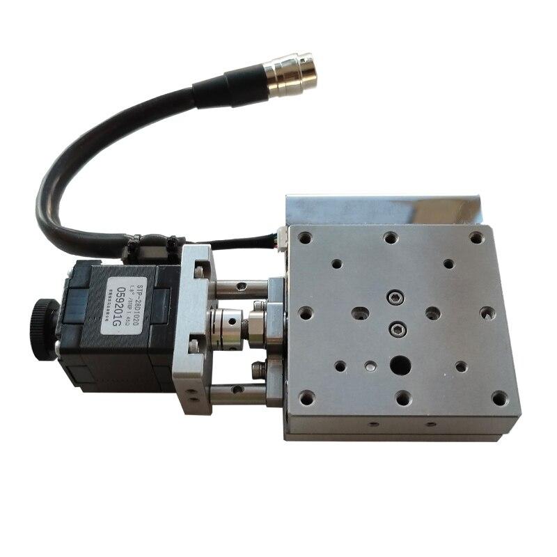 PB110-15 عالية الدقة الترجمة الكهربائية الجدول الفولاذ المقاوم للصدأ الدقة انزلاق الجدول