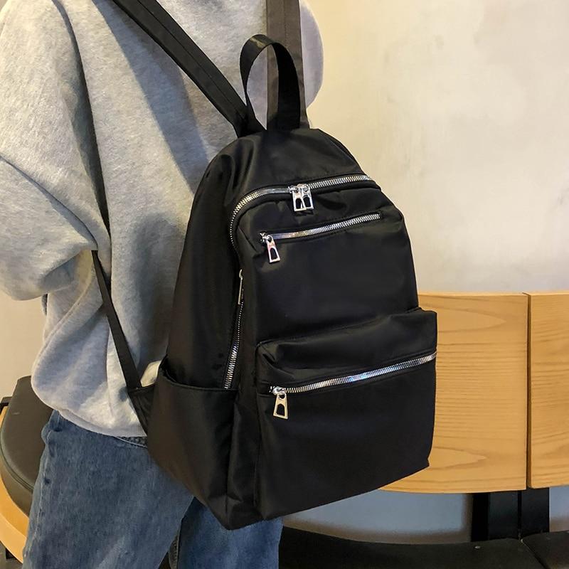 HOCODO 2020 Women Backpack For Teenage Girls Fashion Nylon School Bag Female Backbag Casual Large Capacity Travel Bag Mochilas